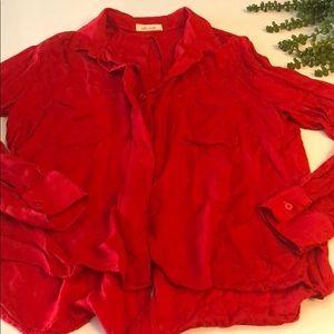 BELLA DAHL Long Sleeve Button Down + Shirt Tail